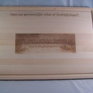 Broodplank voorzien van unieke tekst of afbeelding
