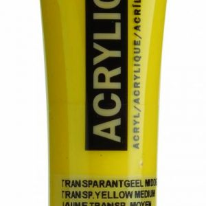 Amsterdam Acrylverf Transparantgeel Middel 20 ml