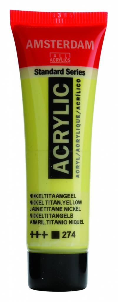 Amsterdam Acrylverf Nikkeltitaangeel 20 ml