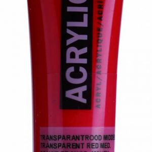 Amsterdam Acrylverf Transparantrood Middel 20 ml