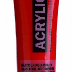 Amsterdam Acrylverf Naftolrood Middel 20 ml