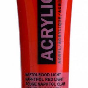 Amsterdam Acrylverf Naftolrood Licht 20 ml