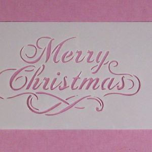 Stencil Merry Christmas