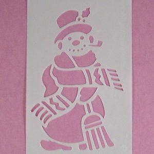 Stencil Sneeuwpop