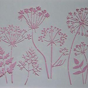 Stencil Wildflowers Stijl 1