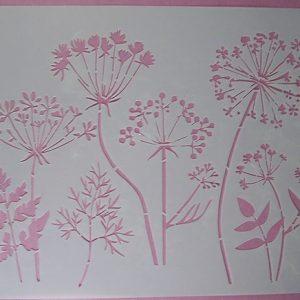 Stencil Wildflowers stijl 9