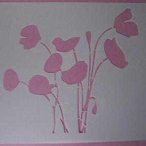 Stencil Wildflowers stijl 3