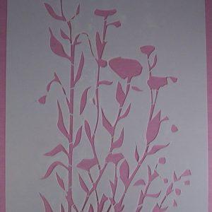 Stencil Wildflowers stijl 7