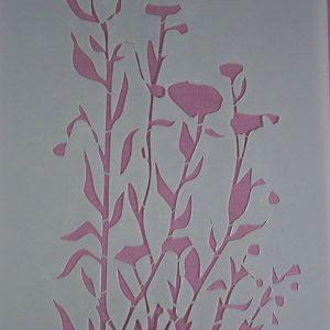 Stencil Wildflowers stijl 2