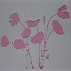 Stencil Wildflowers stijl 8
