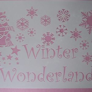 Stencil Winter Wonderland