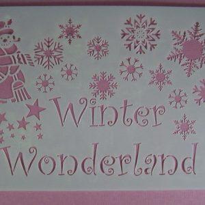 Stencil Winter Wonderland Stijl 1