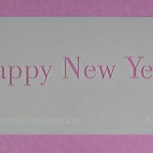 Stencil Happy New Year Stijl 1
