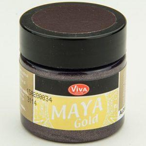 Viva Decor Maya Gold Aubergine