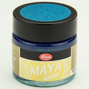 Viva Decor Maya Gold Turquoise