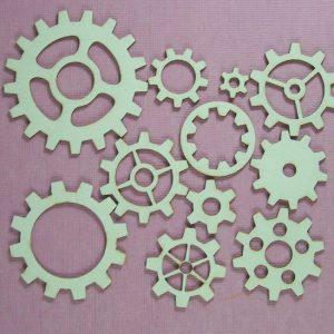 Chipboard set Gears klein