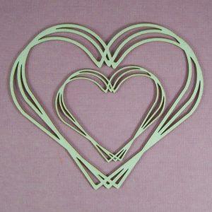 Chipboard Frame Heart