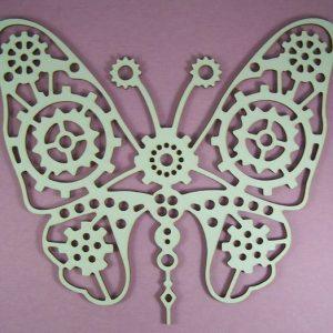 Chipboard Steampunk Butterfly X-Large