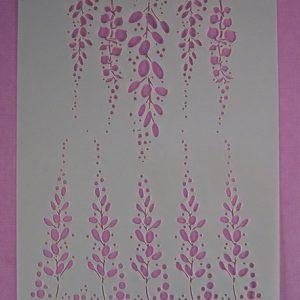 Stencil Hangende Bloemen