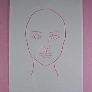 Stencil Face Stijl 5