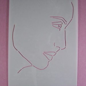 Stencil Face Stijl 6