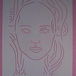 Stencil Face Stijl 1