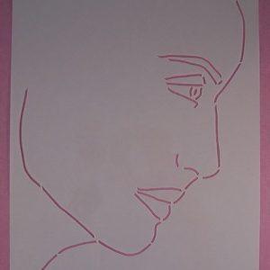 Stencil Face Stijl 3