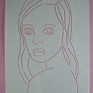 Stencil Face Stijl 8