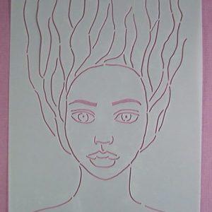 Stencil Face Stijl 9