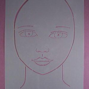 Stencil Face Stijl 10