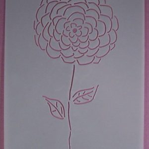Stencil Flower stijl 5