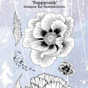 IndigoBlu Poppycock A6 Rubber Stamp