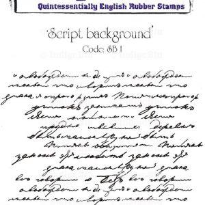 IndigoBlu Script - Background Mounted A6 Rubber Stamp