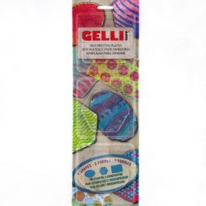 Gelli Arts Oval, Hexagon, & Rectangle
