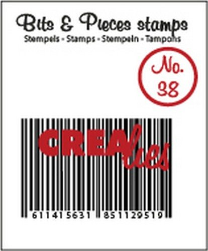 Crealies Clearstamp Bits&Pieces no. 38 Barcode 27x40mm
