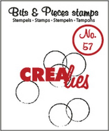 Crealies Clearstamp Bits&Pieces no. 57 grunge circles 12x12-15x21-19x22mm