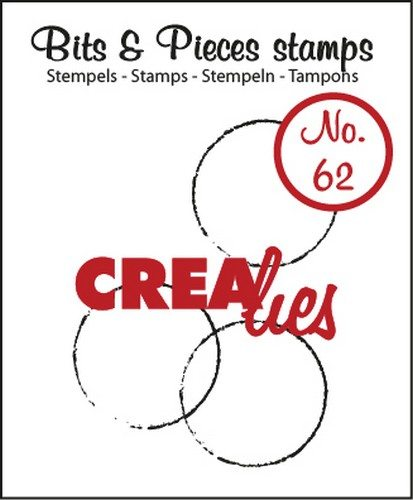 Crealies Clearstamp Bits&Pieces no. 62 grote cirkels 20x20-25x34mm