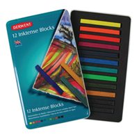 Inktense Blocks Derwent blik met 12 kleuren