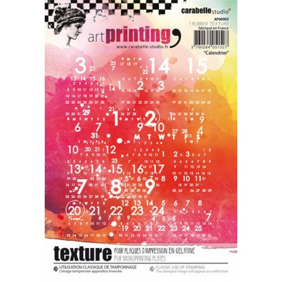Carabelle art printing A6 calendrier