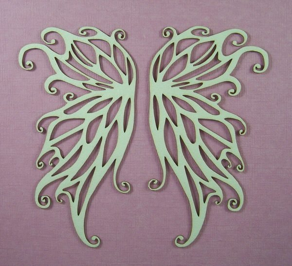 Chipboard Angel wings