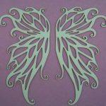 Chipboard Angel Wings groot