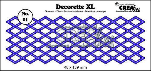 Crealies Decorette XL no. 01 Diamond with stitch 48x139mm