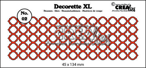 Crealies Decorette XL no. 02 Bogen 45x134mm