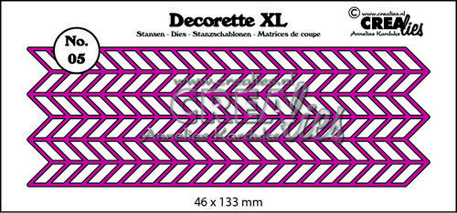 Crealies Decorette XL no. 05 zigzag 46x133 mm