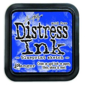 Ranger Distress Inks pad - blueprint sketch