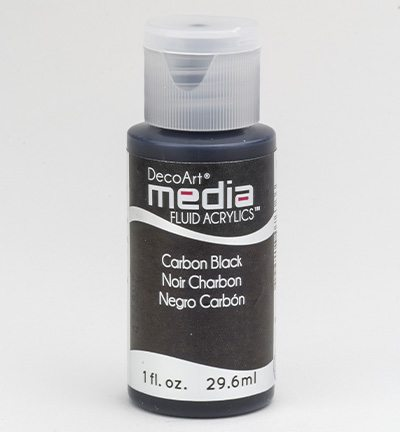 Mixed Media Acrylics Carbon Black