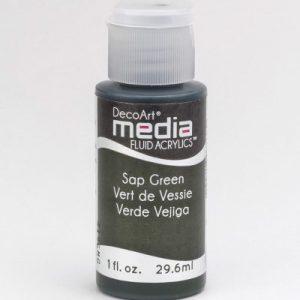Mixed Media Acrylics Sap Green