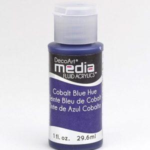 Mixed Media Acrylics Cobalt Blue Hue