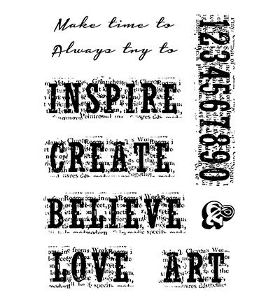 Woodware Clear Stamp Vintage Inspiration