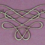 Chipboard Swirl stijl 10 klein